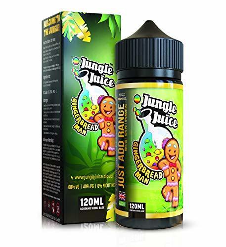 Nicotine Free 0% | 100ml Jungle Juice Premium Vape Liquid Bumper Pack | E Liquid & 30ml Needle tip Bottle | Double Filtered Base for Celestial Vape Juice | (Gingerbread Man)