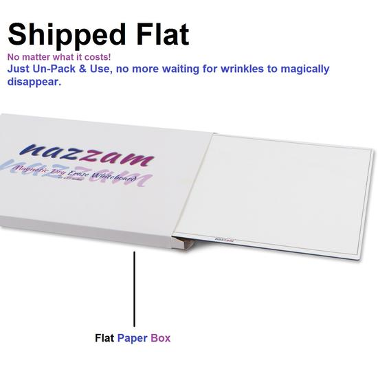 Magnetic Dry Erase Fridge Whiteboard for Family Communications - 3 Markers & Eraser Included!